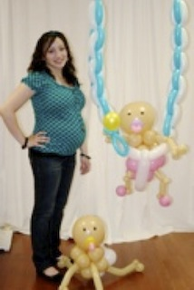 baby shower baby                                  on balloon swing