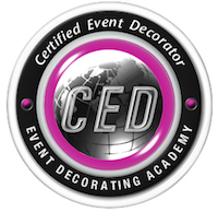 certified event decorator logo