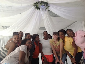 students taking certified event decorator course