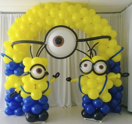 despicable balloon arch picture