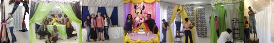 event decorating academy fabric draping class student pictures