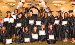 students graduating certified event decorator course